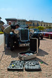 Cantante 1935 Le Mans en el circuito di Zingonia 2014 Fotografía de archivo libre de regalías
