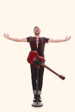 Cantante maschio con la chitarra Fotografia Stock