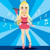 Cantante Pop Star Fotografia Stock Libera da Diritti