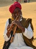 Cantante popular de Rajasthani Imagenes de archivo