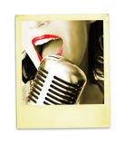 Cantante retro Fotos de archivo libres de regalías