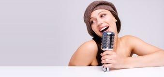 Cantante sexy Fotografia Stock
