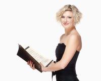 Cantante Singing de la ópera en su vestido de la etapa fotografía de archivo