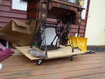 Cantante Treadle Sewing Machine Fotografia Stock Libera da Diritti