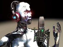 Cantante virtual stock de ilustración