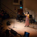 Cantante yiddish israeliano Alexandra Gorelik Fotografia Stock