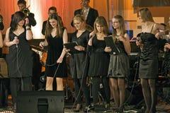 Cantantes Fotografía de archivo libre de regalías