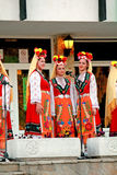 Cantantes búlgaros del folklore Fotografía de archivo libre de regalías