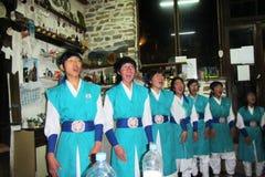 Cantantes coreanos Fotografía de archivo libre de regalías