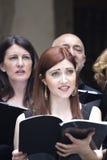 Cantantes del coro Imagen de archivo