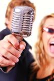 Cantantes del Karaoke Fotografía de archivo