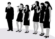 Cantantes jovenes Imágenes de archivo libres de regalías
