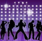 Cantantes y bailarines - partido Fotografía de archivo libre de regalías
