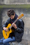 Cantantes y músicos en el festival de la franja, Edimburgo, Escocia Imagen de archivo libre de regalías