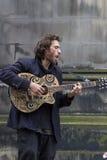 Cantantes y músicos en el festival de la franja, Edimburgo, Escocia Imágenes de archivo libres de regalías