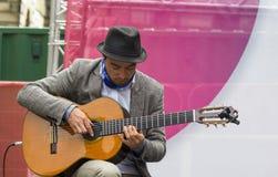 Cantantes y músicos en el festival de la franja, Edimburgo, Escocia Fotografía de archivo