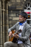 Cantantes y músicos en el festival de la franja, Edimburgo, Escocia Imagen de archivo