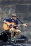 Cantantes y músicos en el festival de la franja, Edimburgo, Escocia Foto de archivo libre de regalías