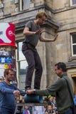 Cantantes y músicos en el festival de la franja, Edimburgo, Escocia Fotos de archivo