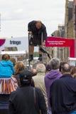 Cantantes y músicos en el festival de la franja, Edimburgo, Escocia Fotos de archivo libres de regalías