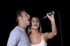 Cantanti fotografia stock