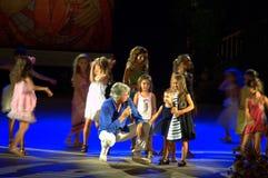 Cantanti bulgari Orlin Goranov e Krisia Fotografia Stock