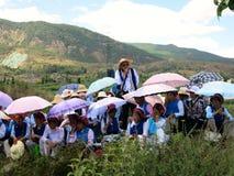 Cantanti cinesi al festival all'aperto di canto fotografie stock libere da diritti