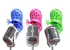 Cantanti d'annata del trio immagini stock