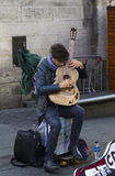 Cantanti e musicisti al festival della frangia, Edimburgo, Scozia immagini stock libere da diritti