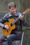 Cantanti e musicisti al festival della frangia, Edimburgo, Scozia fotografia stock