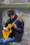 Cantanti e musicisti al festival della frangia, Edimburgo, Scozia immagine stock libera da diritti