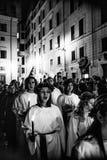 Cantanti svedesi per la festività di Santa Lucia Fotografie Stock Libere da Diritti