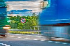 Cante e caminhões Imagem de Stock