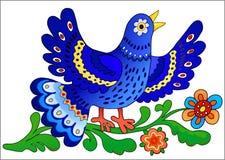 Cante el pájaro azul ilustración del vector