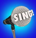 Cante la actuación musical del talento del micrófono de la palabra stock de ilustración