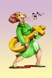 Cante a la hembra stock de ilustración