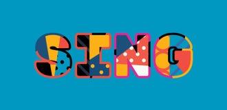 Cante la palabra Art Illustration del concepto ilustración del vector