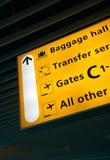 Cante a placa no aeroporto 2 Fotos de Stock