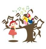 Cante una canción stock de ilustración