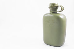 Canteen. An olive drab green army style canteen Royalty Free Stock Photography