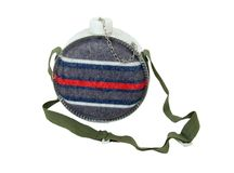 Canteen. Camping style canteen with carrying strap to keep hydrated while outdoors - path included stock photo