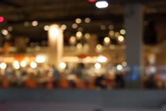 Canteen blur background. In shopping mall Stock Photography
