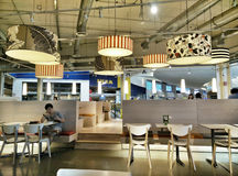 Canteen from ikea bangna, thailand. Canteen of the tail with a lot of people each day Royalty Free Stock Photo