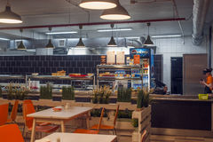 Canteen interior Royalty Free Stock Image