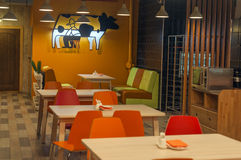 Canteen interior Royalty Free Stock Images