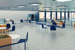 Canteen interior Royalty Free Stock Image