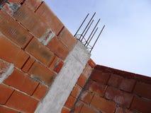 Canteiro de obras concreto com parede de tijolo Imagem de Stock Royalty Free