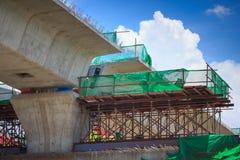 Canteiro de obras da estrada de ferro do trem de céu do BTS Foto de Stock Royalty Free