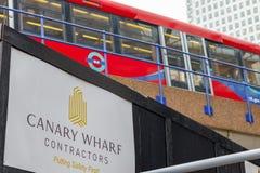 Canteiro de obras da novidade em Canary Wharf Foto de Stock Royalty Free