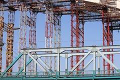 Canteiro de obras da ponte Imagem de Stock